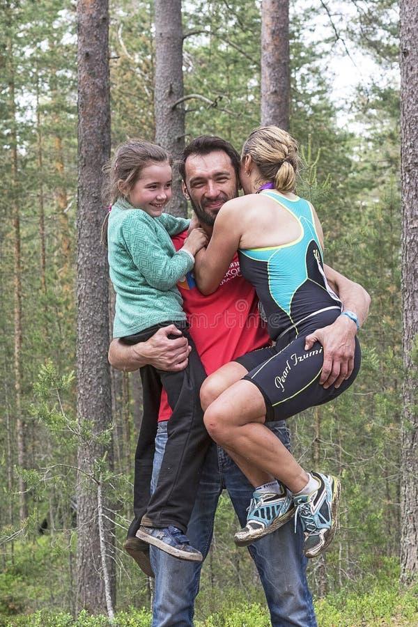 Orehovo Triathlon wyzwanie 2017 fotografia stock