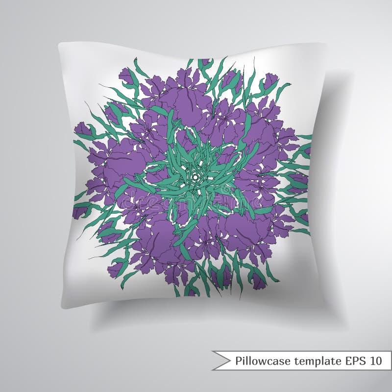 Oreiller créatif de place de sofa Calibre décoratif de conception de taie d'oreiller Illustration de vecteur illustration libre de droits