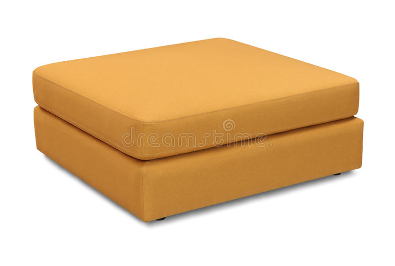 Oreiller de sofa de tapisserie d'ameublement d'isolement sur le fond blanc avec le chemin de coupure photos stock