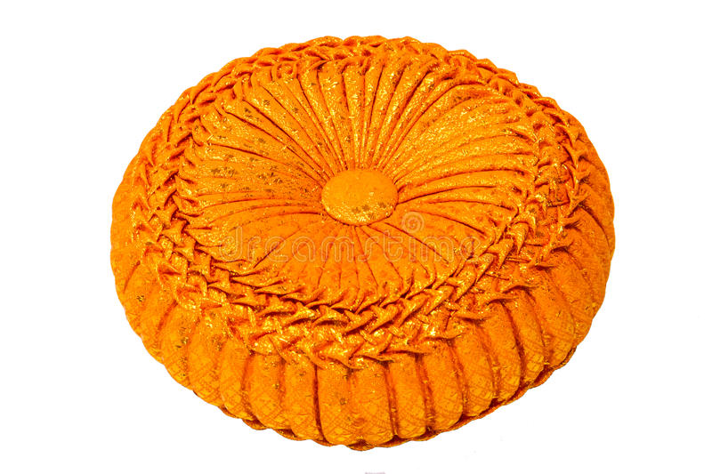 Oreiller de tissage orange image libre de droits