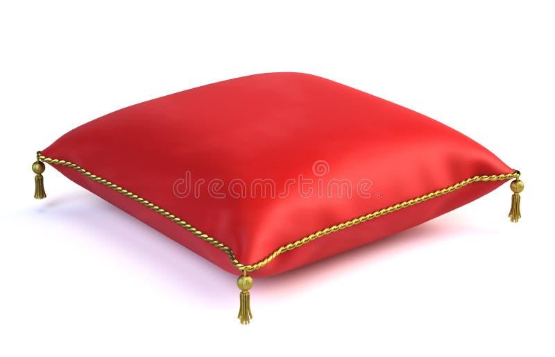 Oreiller rouge royal de velours illustration de vecteur