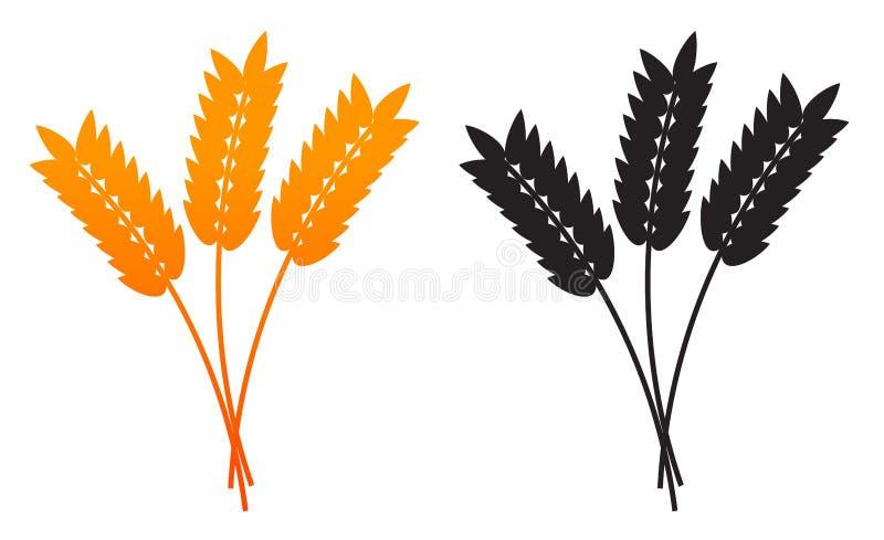 Oreilles de blé, d'orge ou de Rye illustration stock
