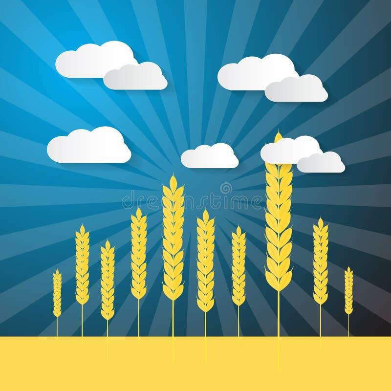 Oreilles de champ de blés illustration stock