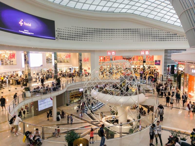 Oreillette au centre commercial de Chadstone à Melbourne, Australie photographie stock libre de droits
