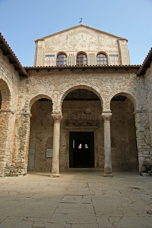 Oreillette de basilique d'Euphrasian, Porec, Istria, Croatie photographie stock libre de droits