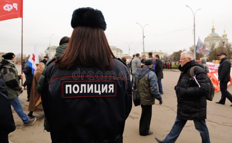 Orel, Rússia, o 7 de novembro de 2017: Aniversário m da revolução de outubro fotos de stock royalty free