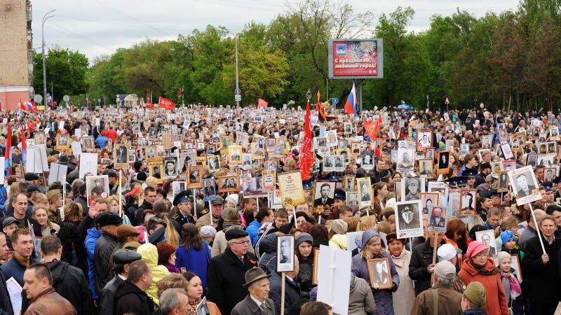 Orel Rosja, Maj, - 9, 2017: Zwycięstwo dnia selebration duży tłum, obrazy stock
