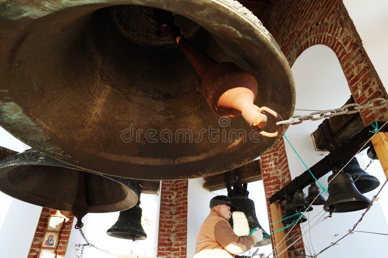 Orel, Rusia - 20 de abril de 2017: Festival de campana-sonido ortodoxo C fotos de archivo