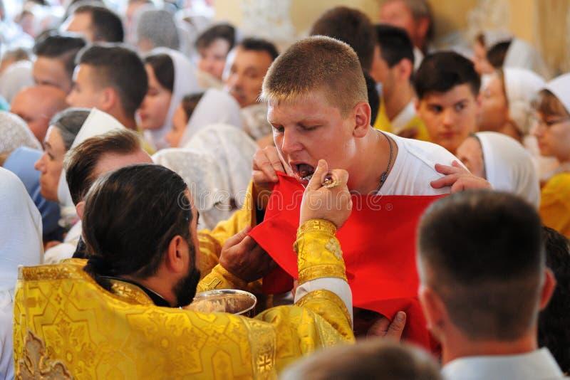 Orel, Rusia - 28 de julio de 2016: Aniversario del bautismo de Rusia divino imagen de archivo