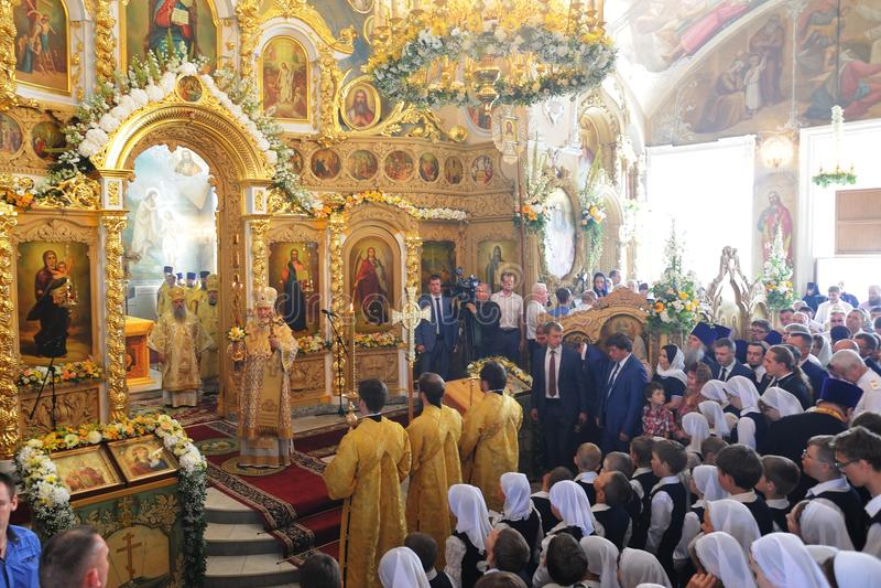 Orel, Rusia - 28 de julio de 2016: Aniversario del bautismo de Rusia divino imagen de archivo libre de regalías