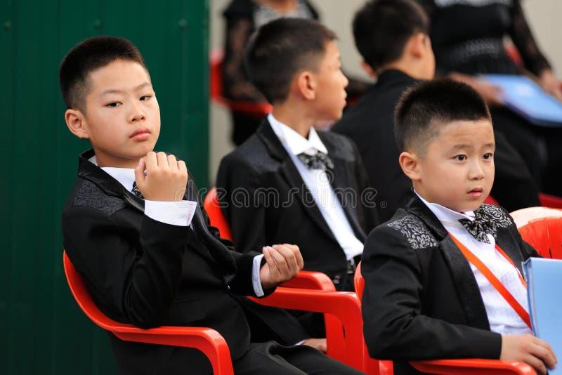 Orel, Rusland - Augustus 05, 2016: De stadsdag van Orel Jonge Chinese mus royalty-vrije stock afbeeldingen