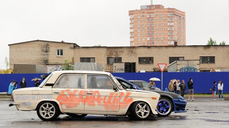 Orel, Russia, July 22, 2017: Dynamica car festival. Old Soviet c stock photos
