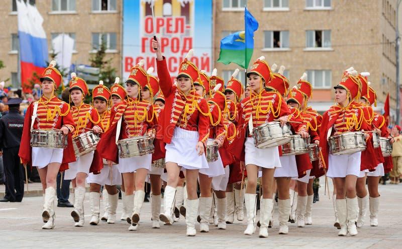 Orel, Russie - 9 mai 2017 : Selebration de Victory Day Jeune prett image libre de droits