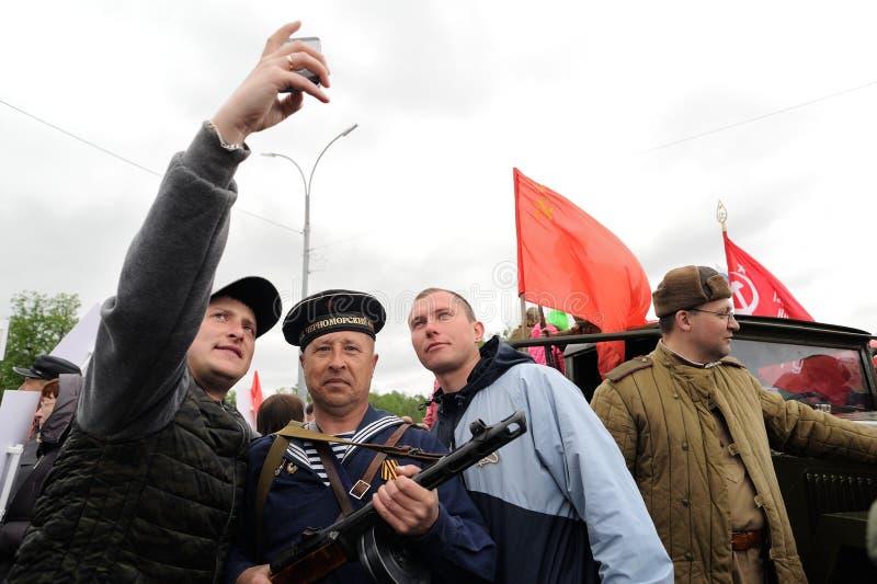 Orel, Russie - 9 mai 2017 : Selebration de Victory Day Jeunes hommes m photos libres de droits