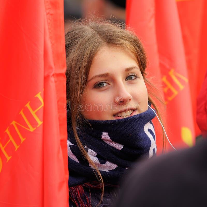 Orel, Russie - 7 novembre 2015 : Réunion de parti communiste Commun images libres de droits