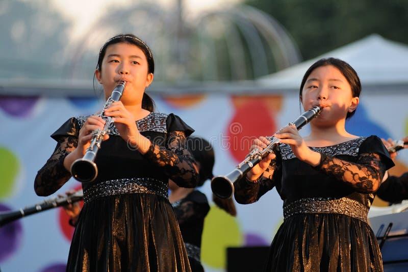 Orel, Russland - 5. August 2016: Orel-Stadttag Chinesischer Mädchenwinkel des leistungshebels stockbild