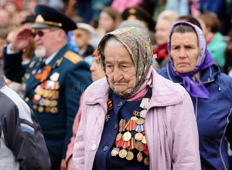 Orel Ryssland - Maj 9, 2017: Beröm av den 72. årsdagen av t arkivbild