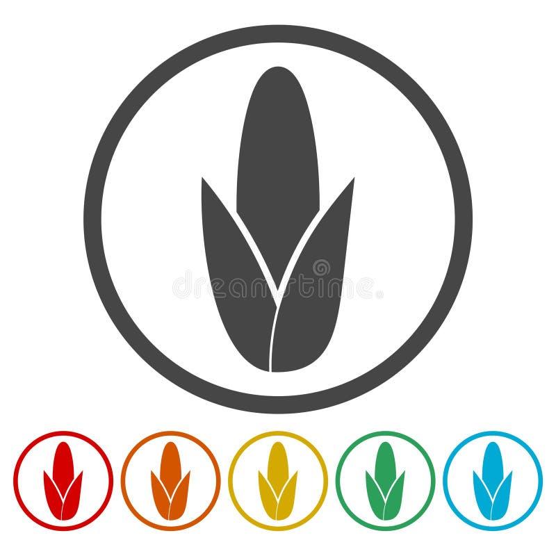 Orelha de milho, grupo de símbolo do milho ilustração stock