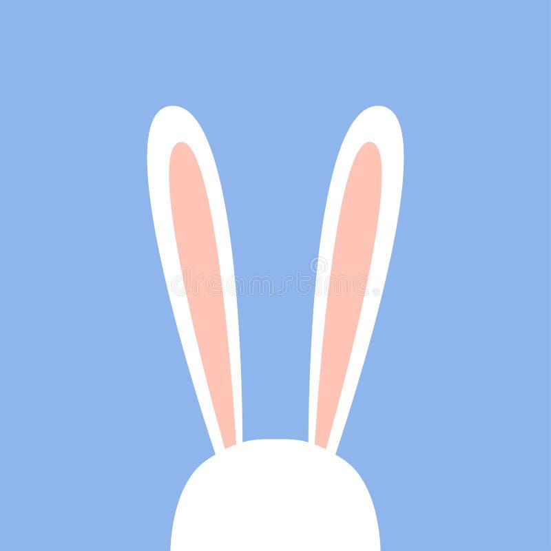 Orelhas bonitos do coelho branco ilustração stock