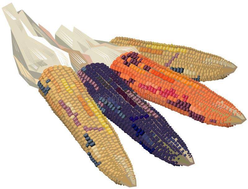 Orelhas do milho indiano ilustração stock