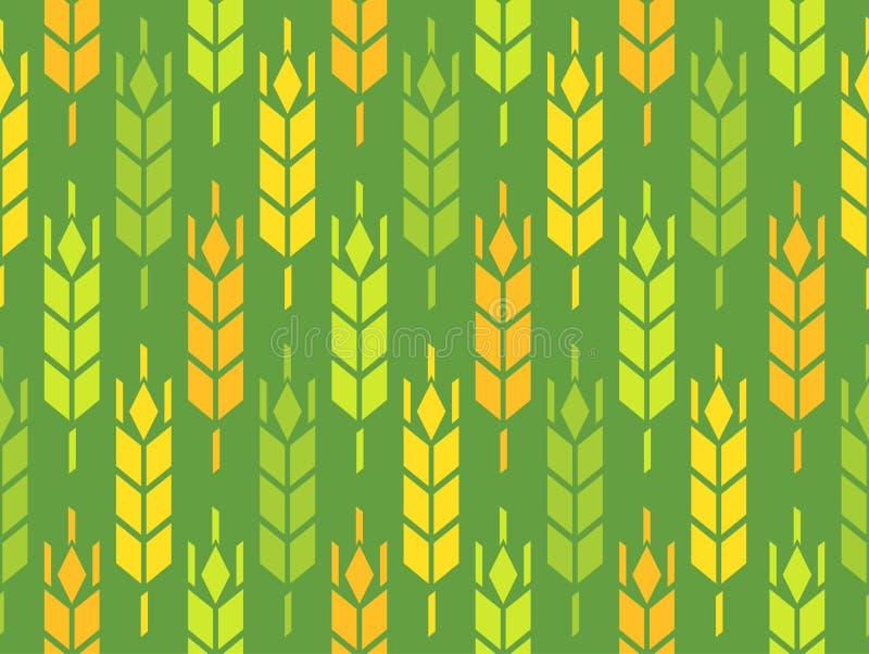 Orelhas do trigo, do Rye e da cevada ilustração royalty free