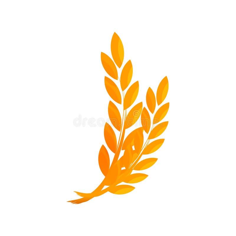 Orelhas do trigo na cor do ouro ilustração royalty free