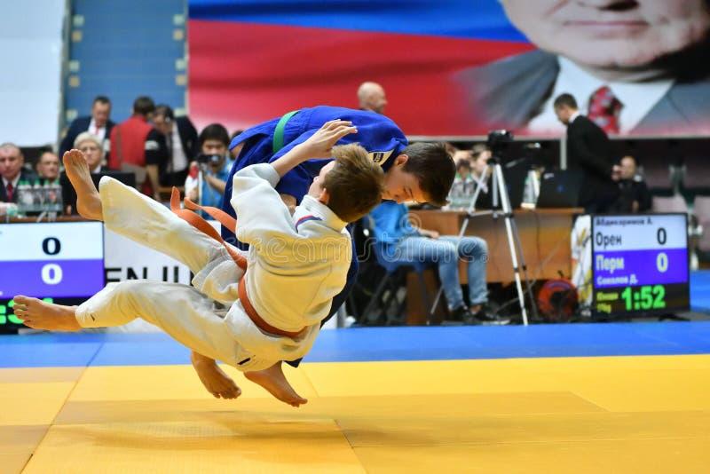 Download Orenburg Ryssland - 21 Oktober 2017: Pojkar Konkurrerar I Judon Redaktionell Fotografering för Bildbyråer - Bild av activatoren, spelare: 106827284