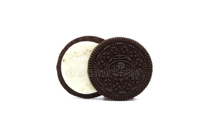 För Chokladsmörgås För OREO Som Original Kaka Isoleras På