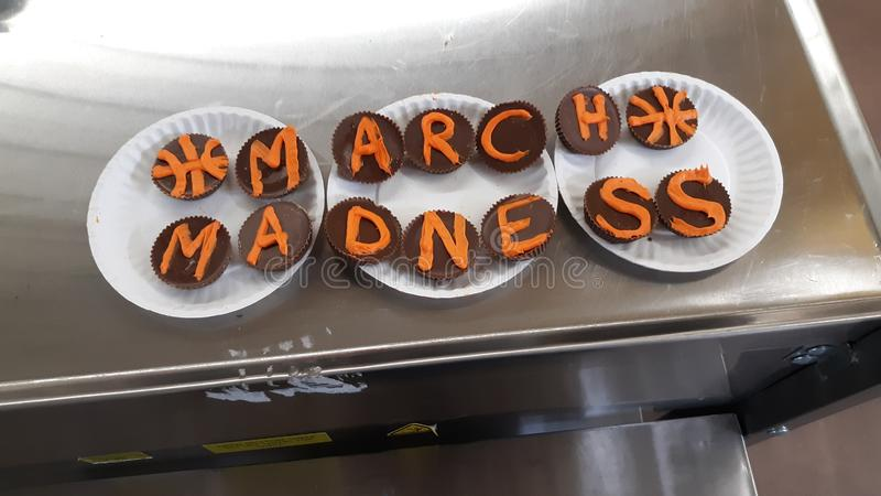 Oreo madness. March cookie party royalty free stock photography