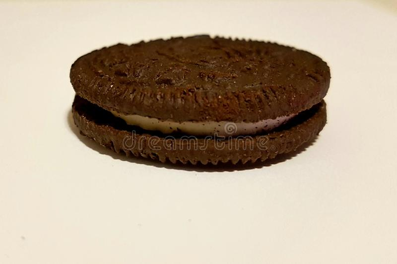 Oreo single piece stock photography