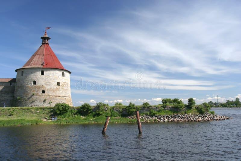 Oreshek castle stock photo