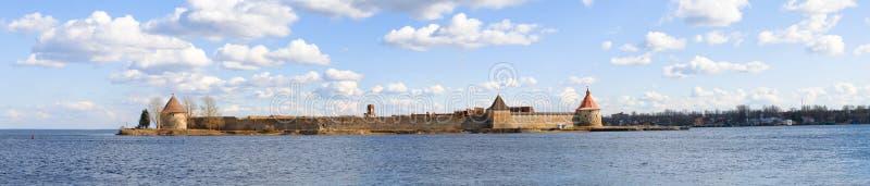 Oreshek fästning, svenska Nöteborg - Noteburg arkivbild