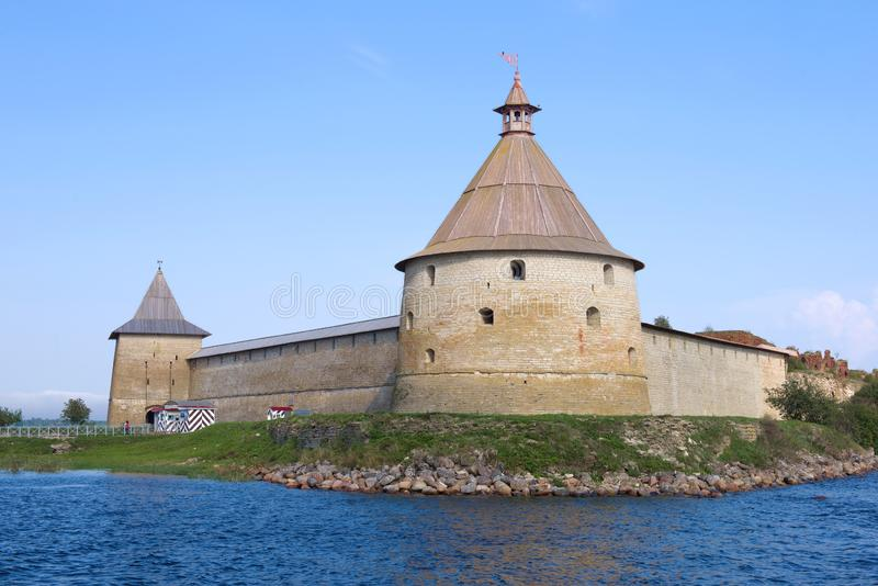 The Oreshek Fortress, September afternoon. Leningrad region, Russia. The Oreshek Fortress on a sunny September afternoon. Leningrad region, Russia stock image