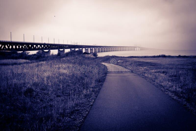 Oresund,桥梁 库存图片