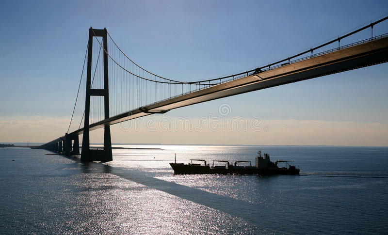Oresund bridge stock image