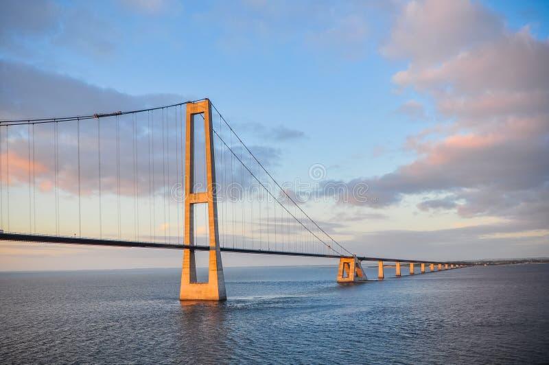 The Oresund Bridge, Scandinavia stock images