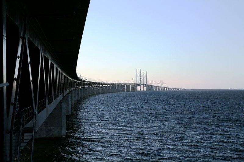 Oresunds bridge royalty free stock photography