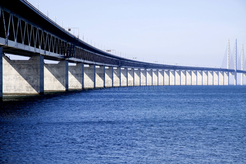 Oresunds bridge stock image