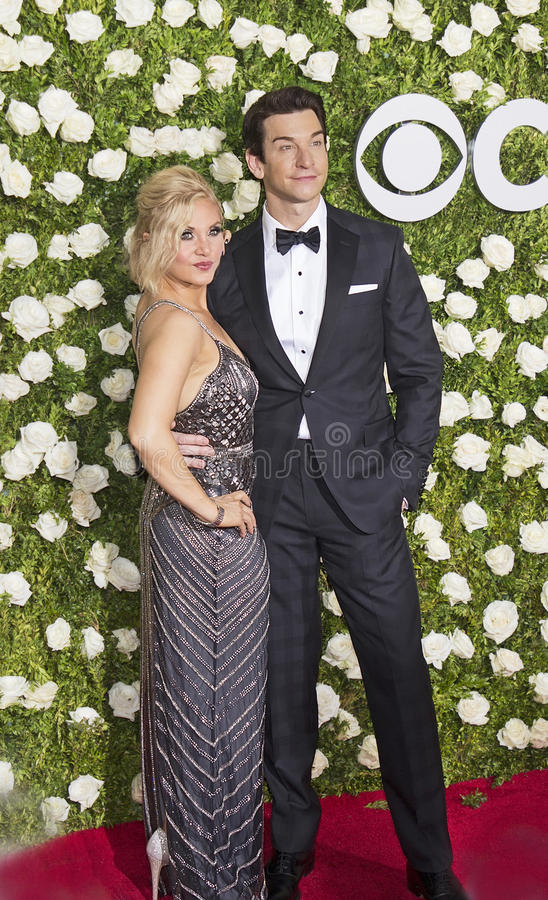 Orfeh und Andy Karl stockfoto