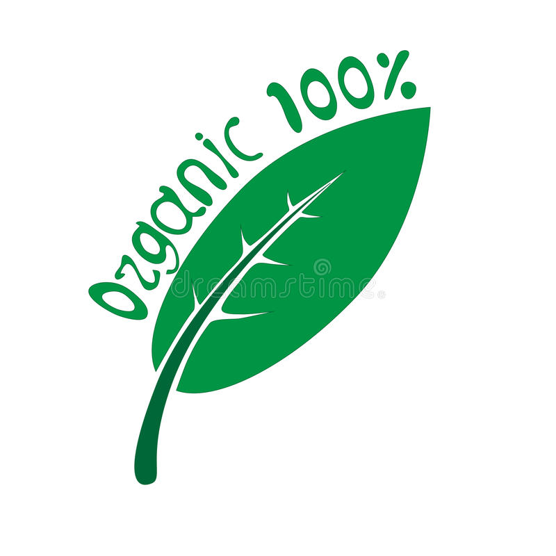 100% orgânico imagem de stock royalty free