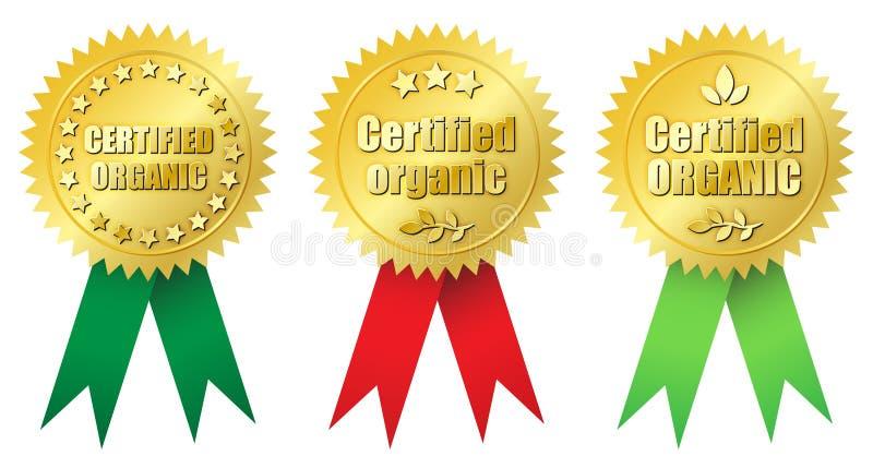 Orgânico certificado ilustração stock