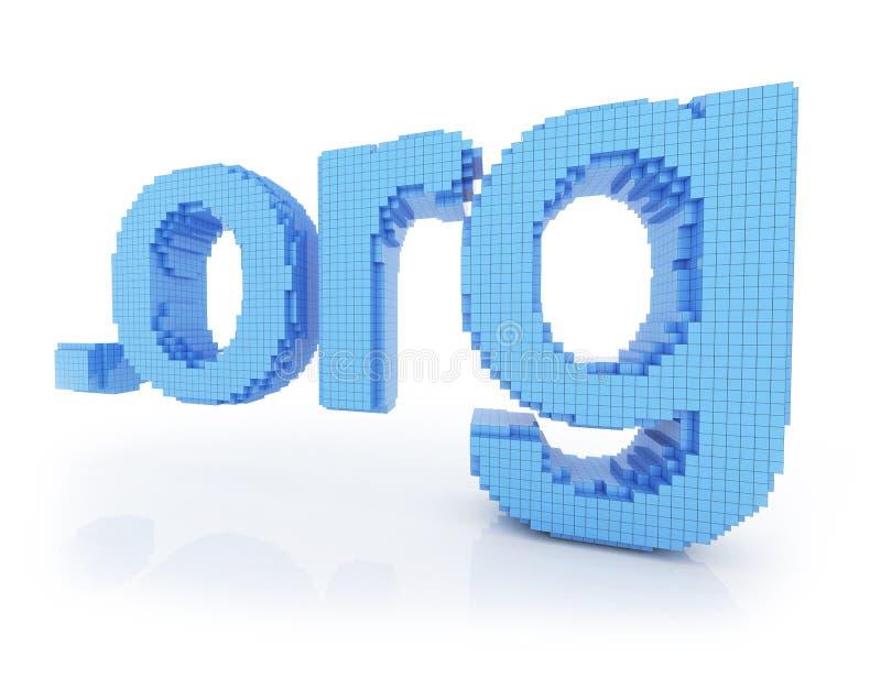 Org do ponto do símbolo do domínio do pixel ilustração do vetor