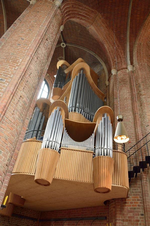 Orgaan van Marktkirche-kerk in Hanover stock fotografie