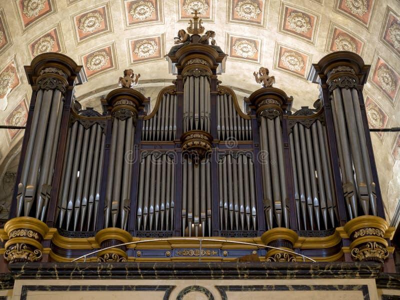 Orgaankathedraal van Ajaccio stock afbeeldingen
