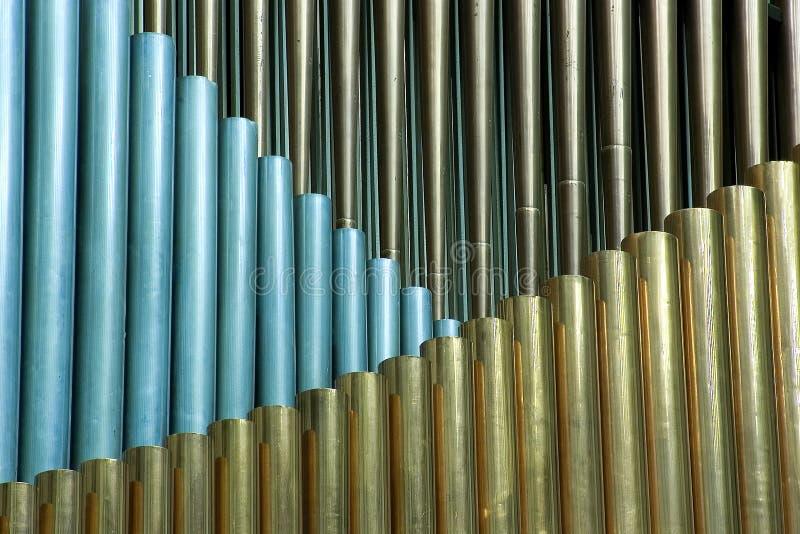 Organ. Traditional organ pipes in Minsk stock image