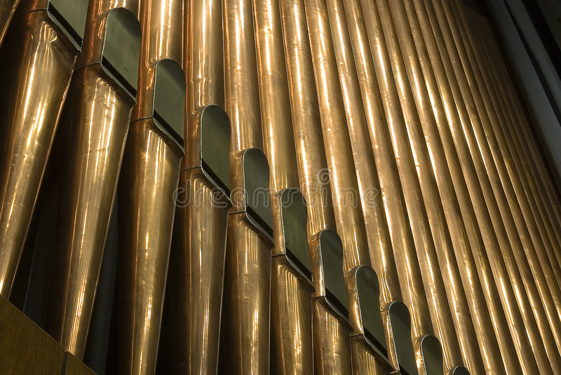 Organ. Traditional organ pipes in Minsk stock photos