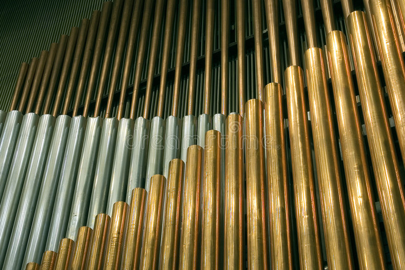 Organ. Traditional organ pipes in Minsk royalty free stock photography