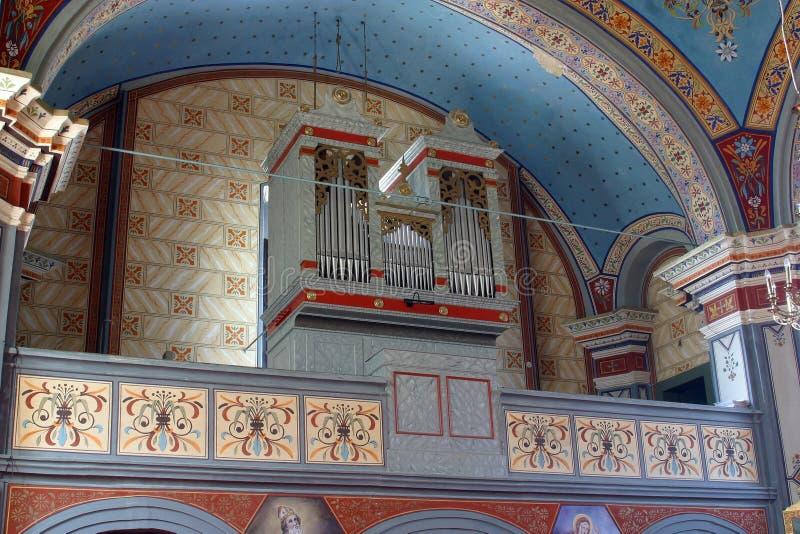 Organ in the church of Helena in Zabok, Croatia. Organ in the parish church of Helena in Zabok, Croatia stock image