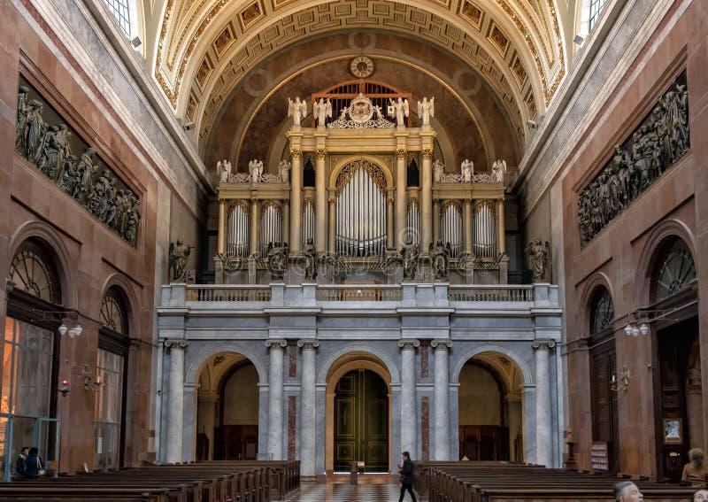 Organ Esztergom bazylika, Esztergom, Węgry zdjęcia stock
