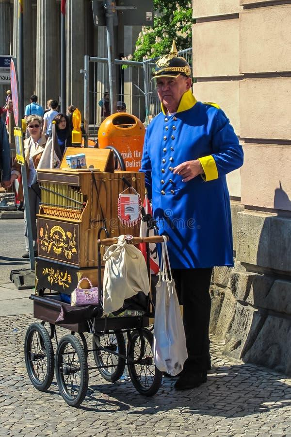Organ Grinder. Dressed as a Prussian officer. Berlin, Germany